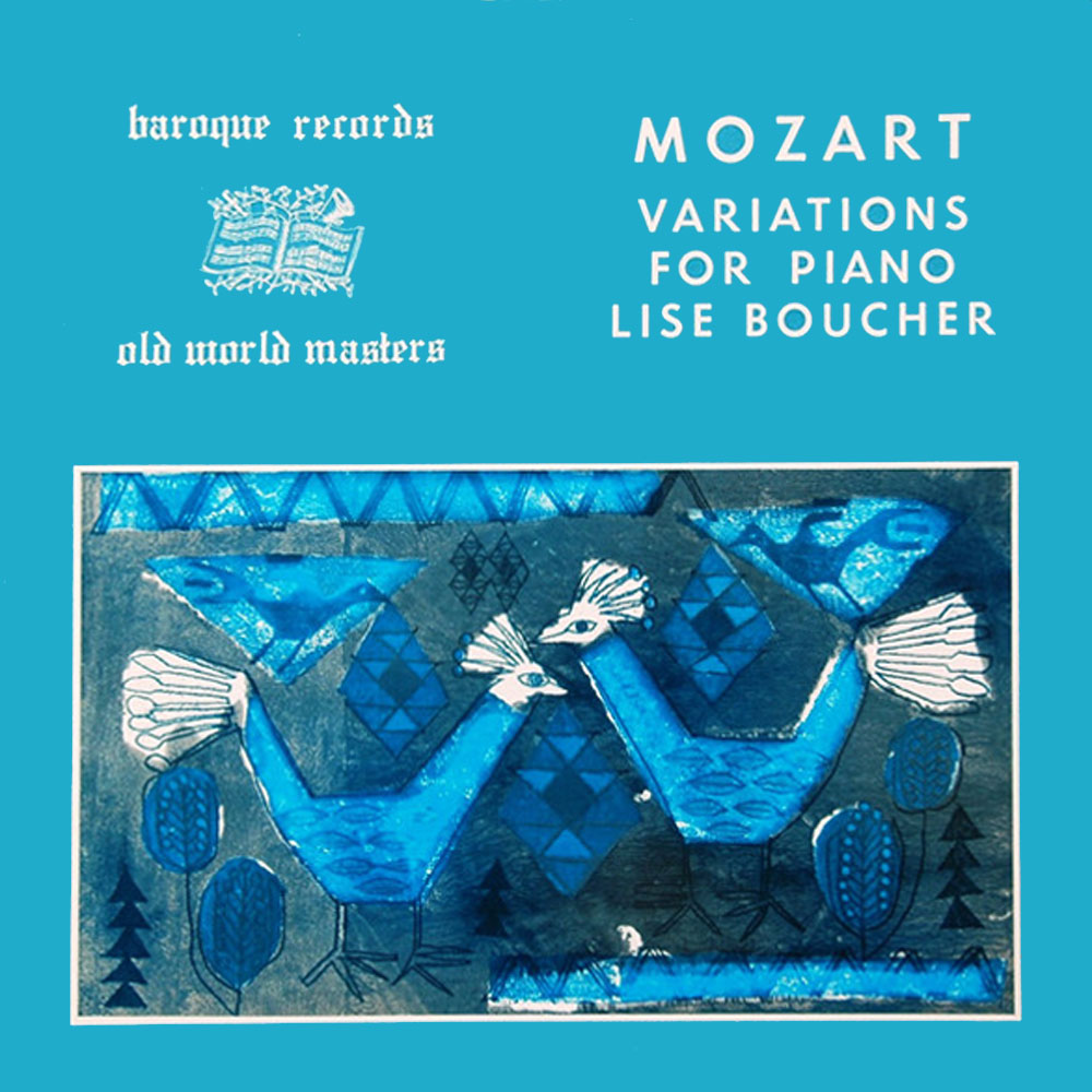 Mozart Variations For Piano Lise Boucher