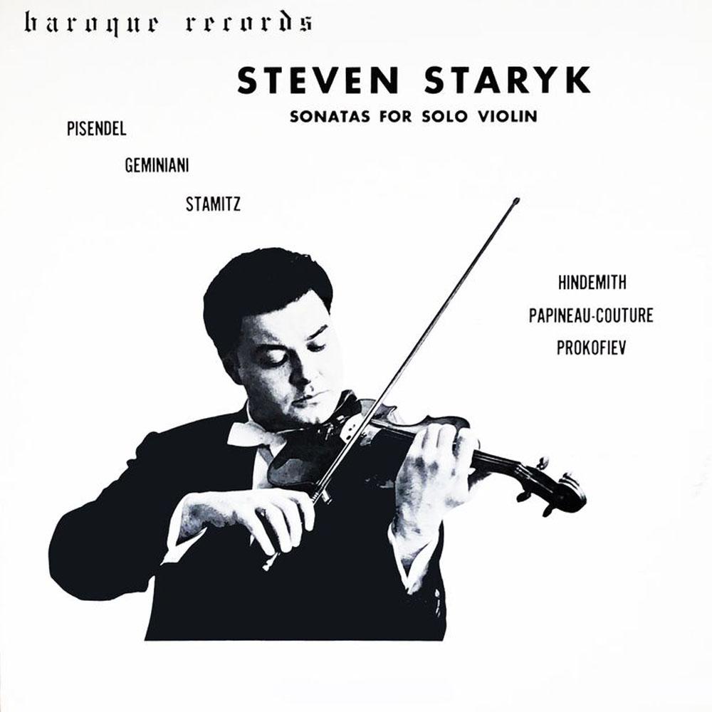 Steven Staryk Sonatas For Solo Violin
